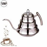 YRP 1200ML 스테인레스 스틸 구즈넥 커피 포트 필터 커피 메이커와 함께 부어 커피 주전자 핸드 드립 차 여과기 주전자