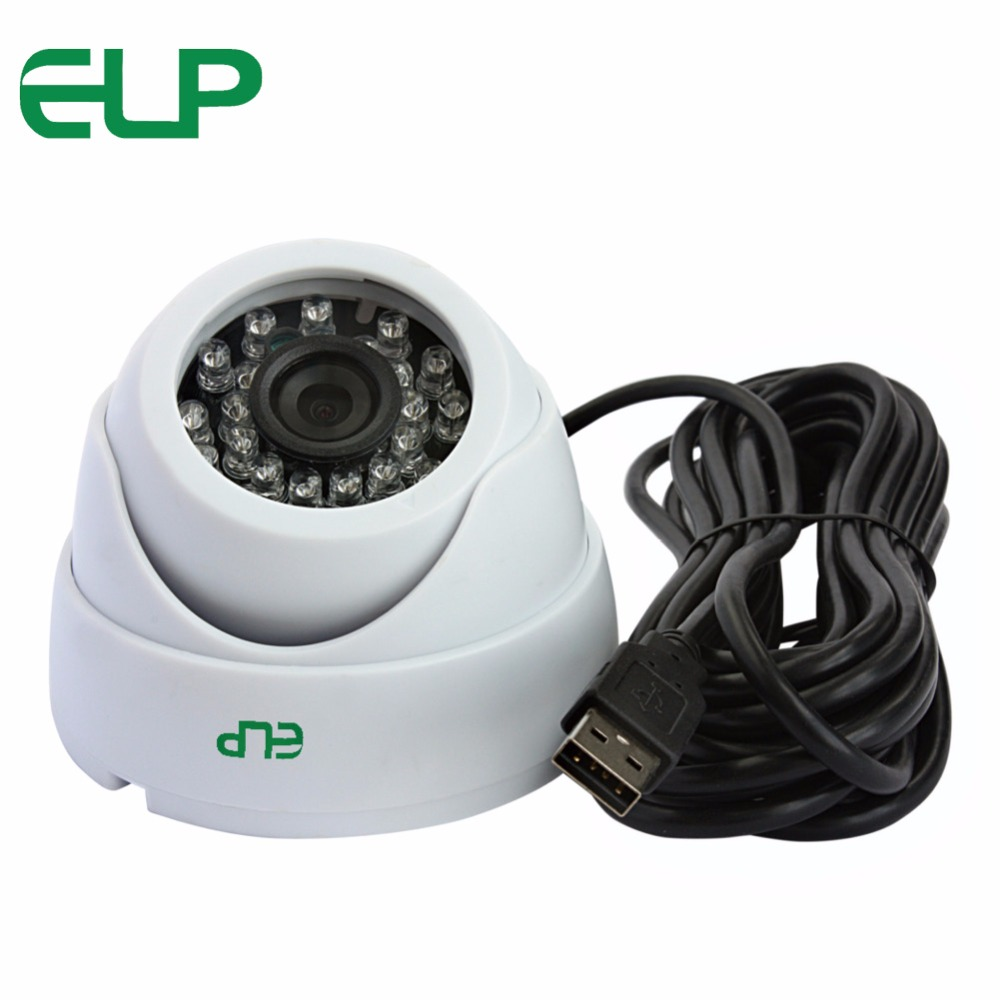ELP Dome USB webcam MJPEG 30fps 1920*1080 night vision full hd usb dome camera 1080P rayants c 003 usb 2 0 wired 8 0mp hd webcam w night vision microphone black sliver