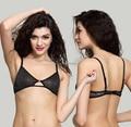 2015 Free shipping Summer ultra-thin undergarment sexy soft lace color block decoration wireless comfortable bra underwear