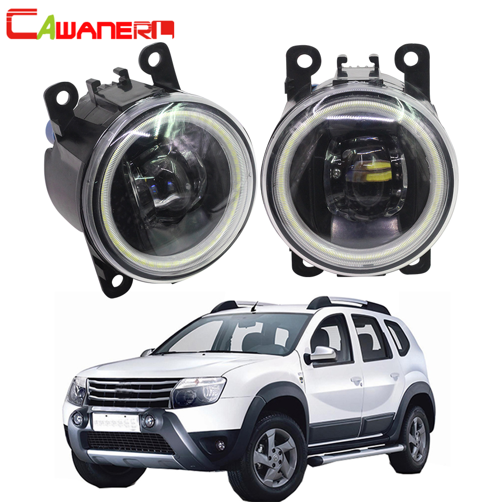 Cawanerl For Dacia Duster Closed Off Road Vehicle 2010 2015 Car 4000LM LED Lamp Fog Light