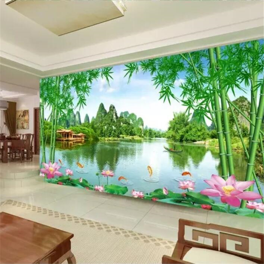 US $8 85 OFF Beibehang Custom Photo Wallpaper 3D Mountain Scenery Jiangnan Good Scenery TV Background Wall Paper Bedroom Decoration Painting Tv
