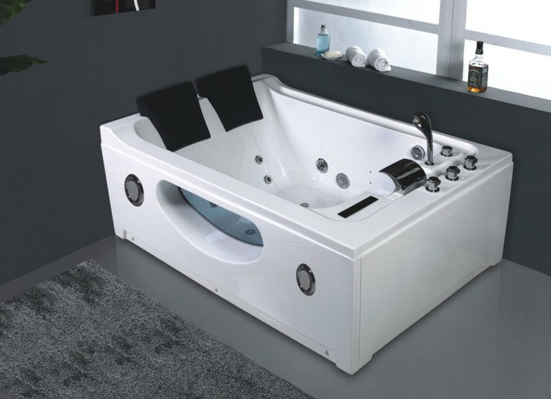 No B287 Two Person Freestanding Bathtub Indoor Whirlpool