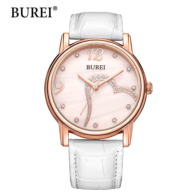 Prix pour BUREI Femmes Montre Top Marque De Mode Femme Casual Horloge Saphir Diamant Gilr Robe Étanche Montre À Quartz Nouvelle Arrivée