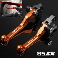 Para ktm 85sx 85 sx 2003-2011 2014-2018 cnc  de alumínio  para motocicleta  dirtbike alavancas de embreagem de freio pivot