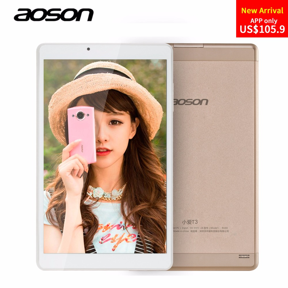 Luxury Golden 10.1 inch Aoson R103 Android 6.0 Tablet PC 32GB/2GB IPS 800*1280 Quad Core 5MP Bluetooth WIFI FM GPS Metal Case ramos i8 8 inch ips 1280 800 android 4 2 dual core 2 0ghz z2580 1g 16g gps планшеты