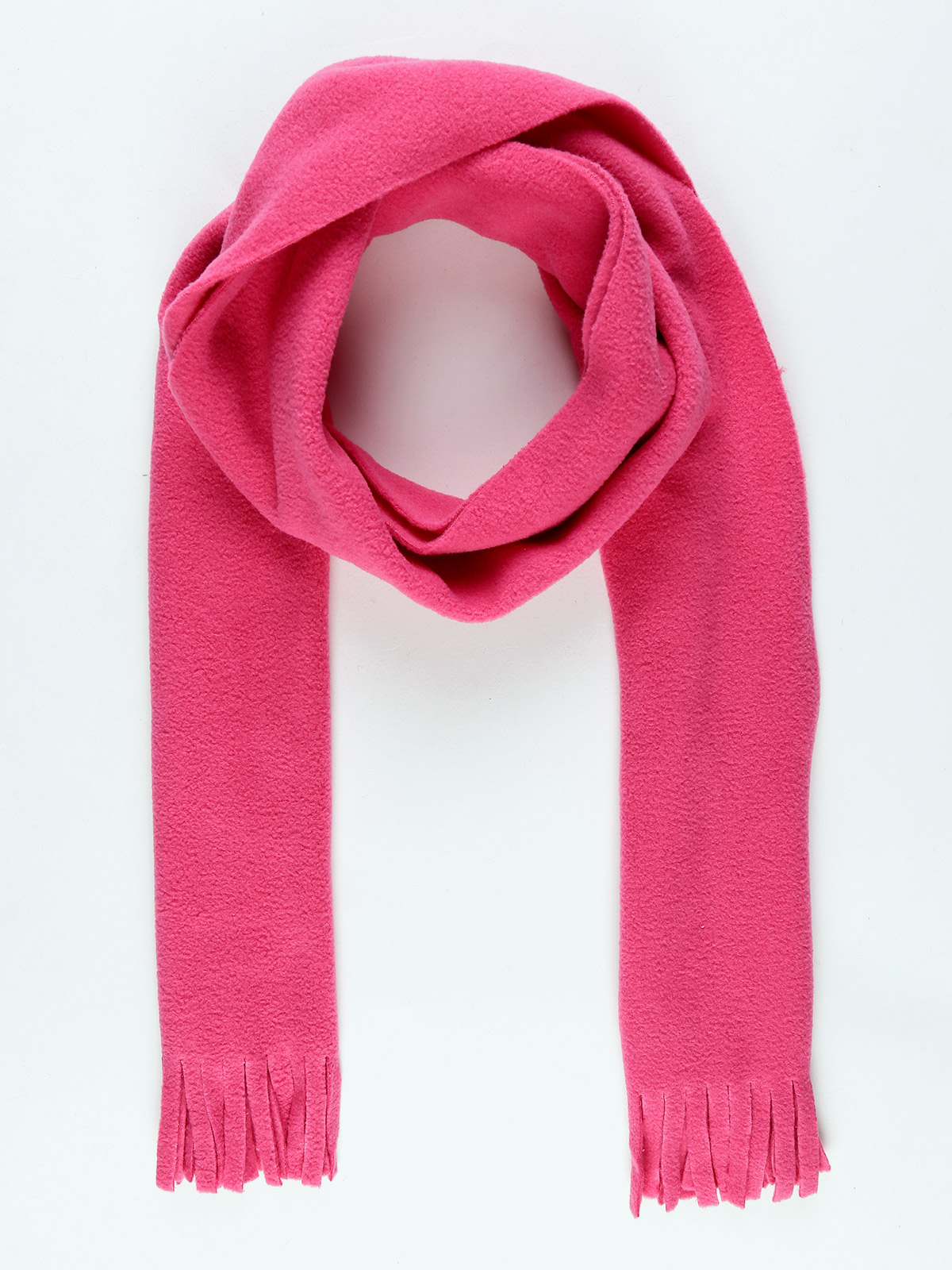 Scarf With Fringe-Pink