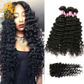 Malaysian Virgin Hair Deep Wave With Closure 3 Bundles With Closure Malaysian Deep Wave Rosa Hair Products Human Hair Bundles