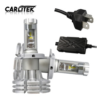 2PCS High Quality Auto Lamp H4 LED 50W Set 6000Lm Set 6500K Super Bright Automobiles