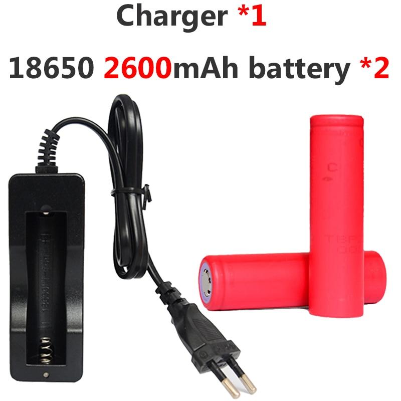 4 pièces KingWei nouvelle 18650 2600 mah batterie pour Sanyo Li-ion batterie Rechargeable + 1 * 803C chargeur pour lampe de poche Batteries batterie externe