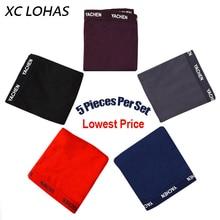 5 Pieces Per Set Sexy Boxer Soft Comfortable Men Boxers Underwear Solid Panties Underpants Cueca Boxershorts Homme