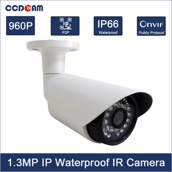 CCDCAM Free Shipping HD 960P IP Camera Outdoor Mini Onvif CCTV System IR Night Vision P2P 1.3MP Security Camera System