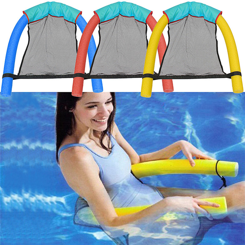 Mesh Seat Floating Pool Chair For Noodle Sling Swimming Net Float Water Seat New