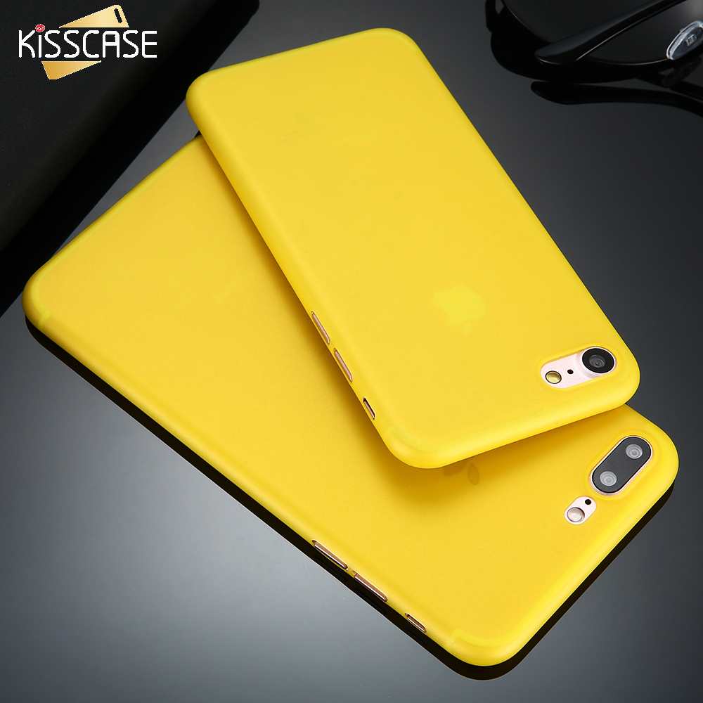 Kisscase super thin case para iphone 7 for iphone 7 plus duro pc phone case mate