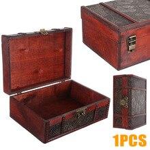Винтажный замок декоративная безделушка сундук ящик для хранения ювелирных изделий ручной работы классический деревянный сундук ящик для хранения Органайзер