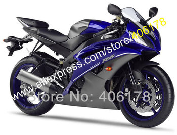 For YZFR6 YZF R6 08 09 10 11 14 15 16 YZF600 YZF-R6 Blue Gray 2008-2016 Motorbike Fairings (Injection molding)