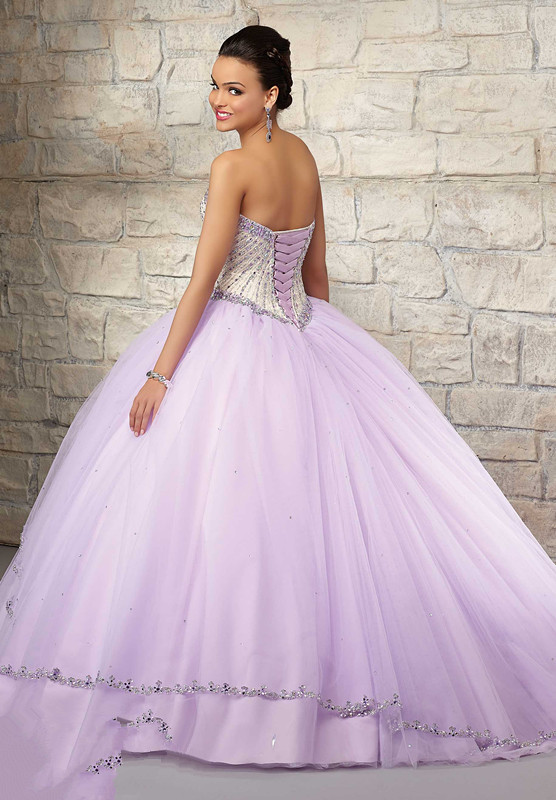 b73c0738d54 New Summer 2016 Sweet Lilac Color Cheap Quinceanera Dresses With Jacket Ball  Gown Tulle Beaded Top Lace Up Back vestidos 15 anos-in Quinceanera Dresses  from ...