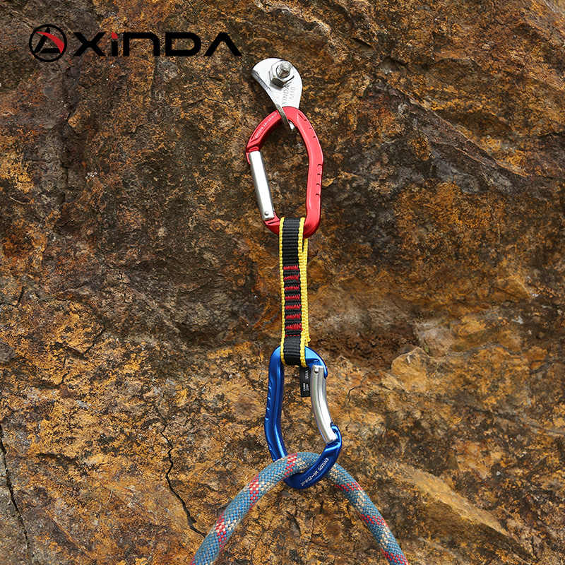XINDA zawód wspinaczka skałkowa Quickdraw Sling blokada bezpieczeństwa przedłużacze prosto wygięty karabinek góral Outdoor Protect zestawy