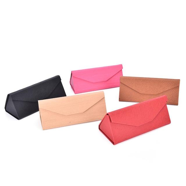 Мода Чисто ручной очки коробка портативный очки кейс очки кейс сложить треугольник близорукость зеркальный шкаф