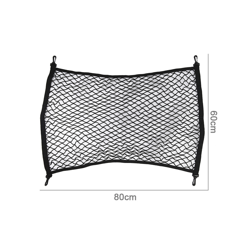 Universal Car Trunk Rear Storage Cargo Mesh Net Luggage Elastic Holder Stowing Tidying Organizer with 4 Hooks 80x60cm Space Save in Stowing Tidying from Automobiles Motorcycles