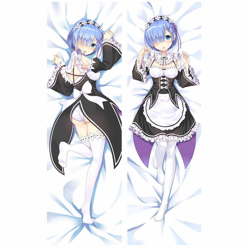 Anime RE ZERO Starting Life in Another World pillow Covers Rem Emilia Sexy 3D Double-sided Bedding Hugging Body pillowcase RE03