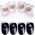 1 Box 0.8mm/1mm/1.2mm/1.5mm Steel Beads 3D Nail Decoration Fashion Manicure Nail Art Decoration