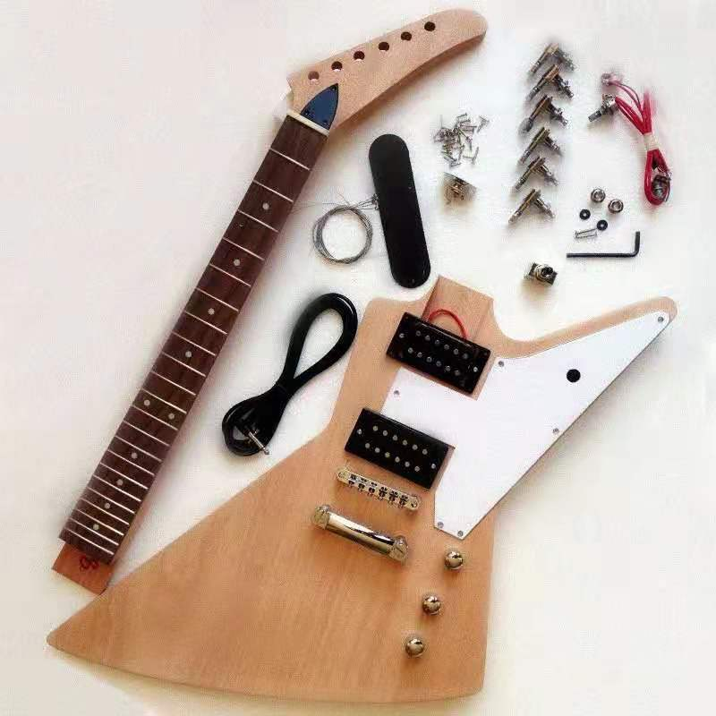 Freight-free, semi-finished electric guitar, with accessories, customizable(China)