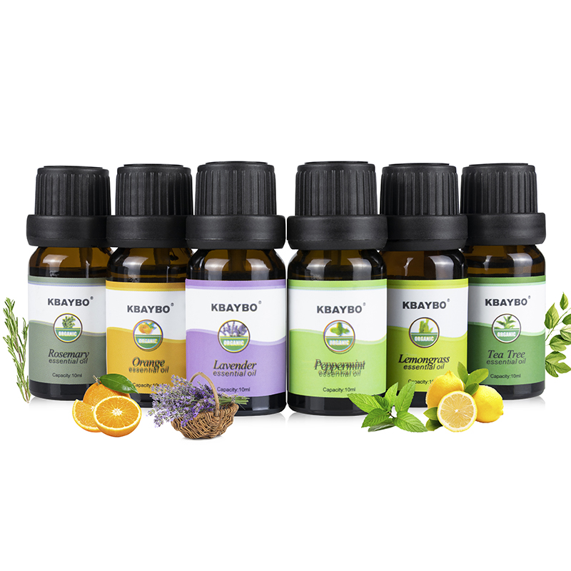 Essential Oils Aromatherapy Oil for aroma Diffuser Humidifier 6 Kinds Fragrance of Lavender Tea Tree Rosemary Lemongrass Orange essential oils with aromatic aromatherapy oil 6 kinds fragrance of lavender tea tree lemongrass essential oil for diffuser