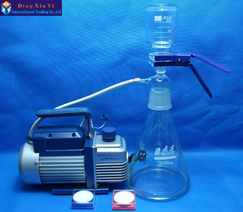 2000ml membrane filter+vacuum pump+filtering membrane,Ultra low-cost Vacuum filtration apparatus high quality low price best service 90kpa vacuum membrane vacuum pump