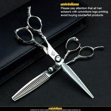 """univinlions 6"""" professional japan left scissors lefty hairdressing scissors left handed barber scissors for lefty haircut shears"""