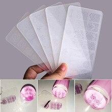 Conjunto de placas de estampación de uñas estampador raspador sello de esmalte de uñas plástico DIY plantilla para decoración de uñas Set manicura herramientas de uñas (BC01 BC10)