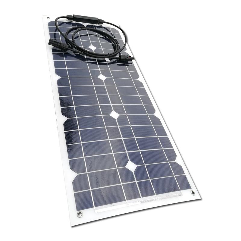 Solar Panel Flexible 12v 25w Solar Battery Charger Off Grid Solar Rv Motorhome Marine Yacht Boat Car Caravan Camping LED Light