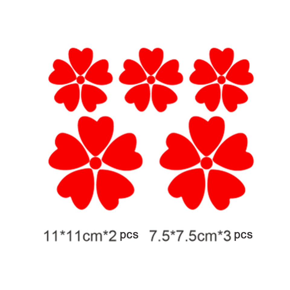 Image 5 - OCT 17 Romanti Cherry blossom Car Vinyl Whole Body Graphic Decal Sticker Styling 5 pcs/pack-in Car Stickers from Automobiles & Motorcycles