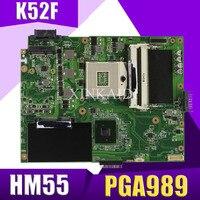 XinKaidi K52F Laptop motherboard for ASUS K52F X52N A52F K52 Test original mainboard PGA989 HM55
