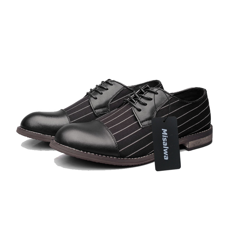 Misalwa New Unique Men Stripes Oxfords Men Loafers Men Casual Daily Shoes  Wedding Party Dating Dress Shoes Men s Flats-in Oxfords from Shoes on ... 2a1d3481473b