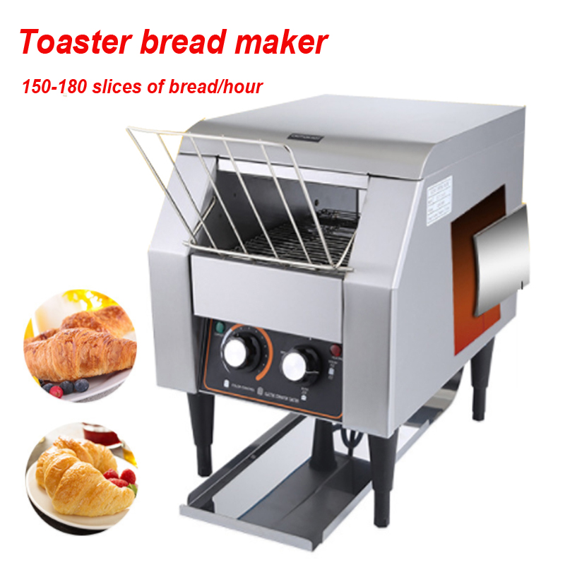 Electric Conveyor Toaster ATS-150 commercial Crawler-type toaster bread maker 150-180 slices of bread/hour 220v-240v/50-60hzElectric Conveyor Toaster ATS-150 commercial Crawler-type toaster bread maker 150-180 slices of bread/hour 220v-240v/50-60hz
