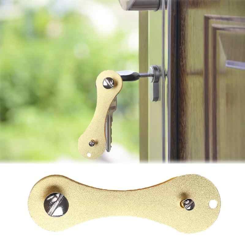 Portable Smart Key Holder Organizer Clip Flexible Keys Wallet Keychain Ring Pocket Tool Outdoor Multi Tools
