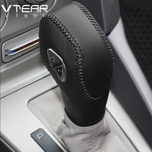 Vtear For Ford Ecosport Gear Shift Collars Handbrake Grips Interior car-Styling hand brake cover Hand-stitched accessoris 13-19