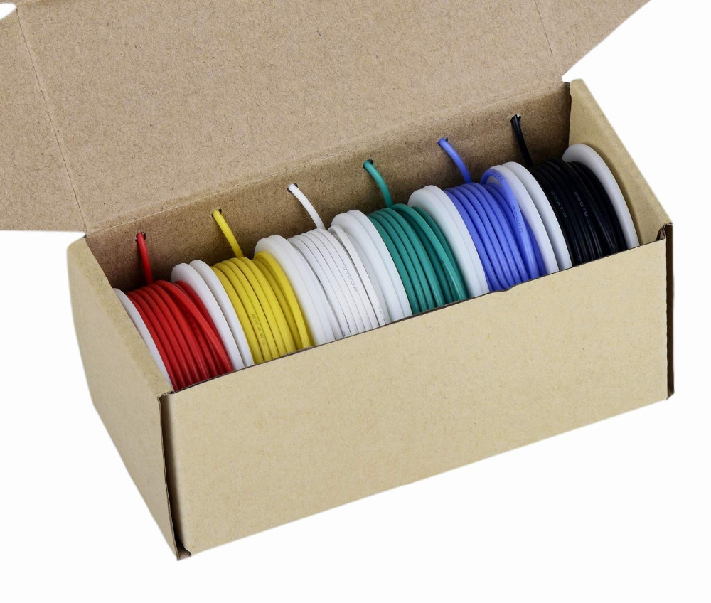 Image 2 - TUOFENG 18AWG Electrical Wire, Hook up Wire Kit 18 Gauge Flexible Silicone Wire(6 Different Colored 4 Meter spools) 600V-in Wires & Cables from Lights & Lighting
