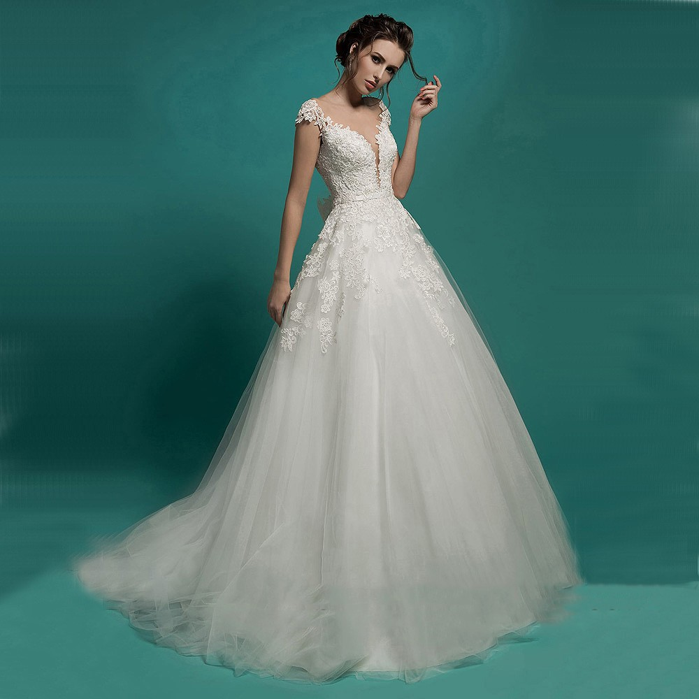 Vintage Lace Wedding Dress 2016 New Ball Gown Princess Wedding Gowns ...