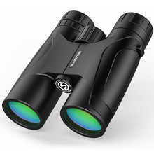 цена Binoculars 12X42 Waterpoof Telescope High Power BAK4 HD Telescopio Professional Optics Powerful Teleskope for Camping Hiking