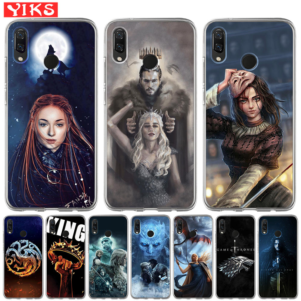 Game Thrones Stark Badge Case For <font><b>Huawei</b></font> Nova 4e 3e 3 3i 2 Plus <font><b>Y5</b></font> Y6 II Y3 Y7 2017 Y6 Prime <font><b>2018</b></font> Soft TPU Phone Covers Etui image