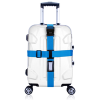 SINOKAL Luggage Straps With Lock Cross Suitcase Travel Belts Belt Only