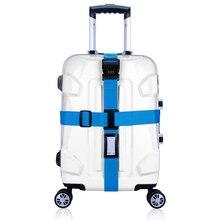 Ремешок для багажа крест пояса упаковка ленты регулируемый путешествия чемодан Нейлон Блокировка Пряжка ремень багажа ремень (только Продаем Ремень)