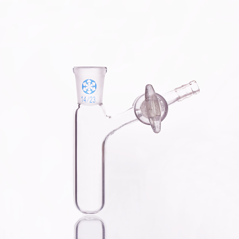 Reaction tube with glass valve and standard ground mouth,Capacity 10ml and joint 14/23,High borosilicate glass