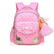 4614dee65 Escola crianças sacos Para Meninas Moda Infantil Princesa Bonito Mochilas  Escolares Mochila Menina Mochila Bagpack Mochila