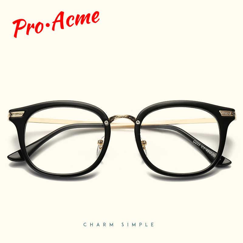 Pro acme очки прозрачные линзы, оправа для женщин и мужчин компьютерные очки оправа прозрачные поддельные очки для близорукости CC1102