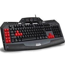 Новый Delux T15SU USB проводной игровой клавиатуры для ПК геймер компьютерная периферия dota2 LOL подарок русского алфавита наклейки на клавиатуру