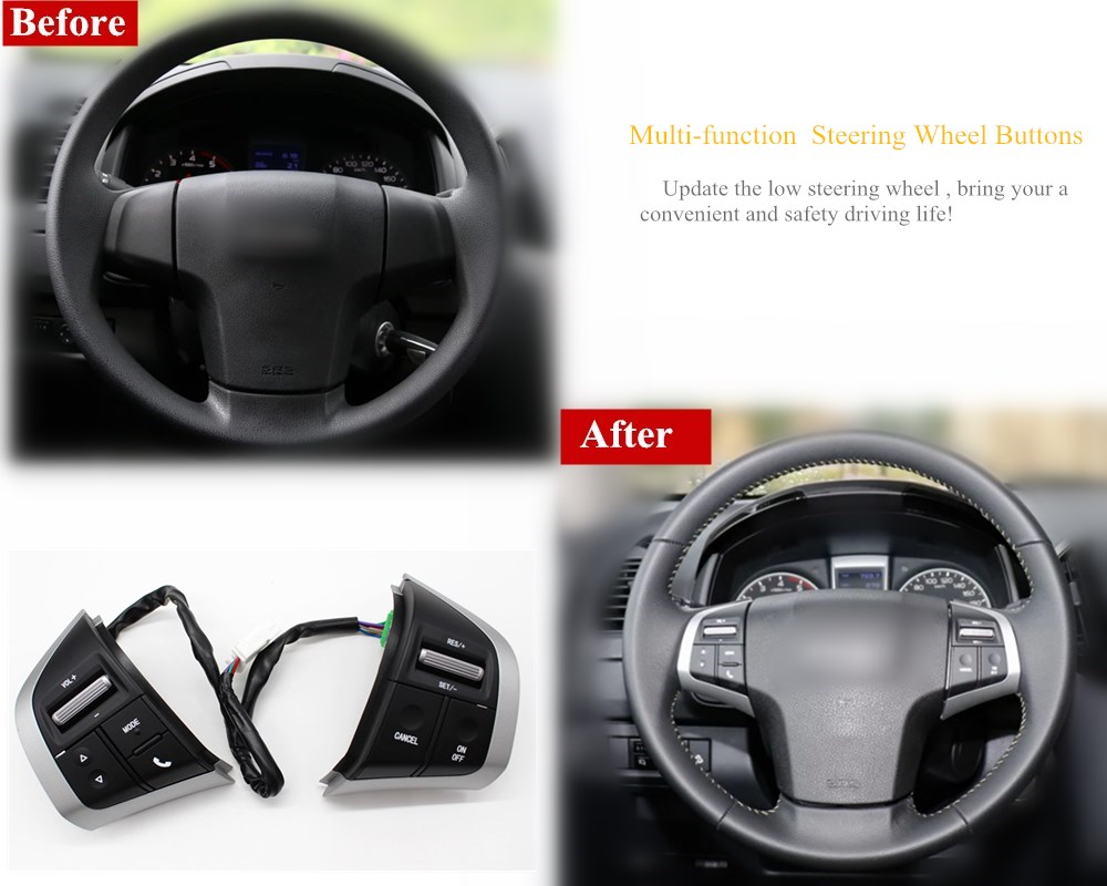 Steering Wheel Switch Cruise Control Button Touch Screen Bluetooth Radio Audio Control For Isuzu D max