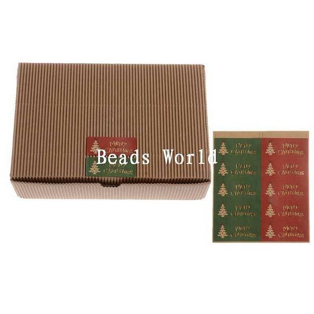 100 paper labels envelopes box seals sticker merry christmas xmas