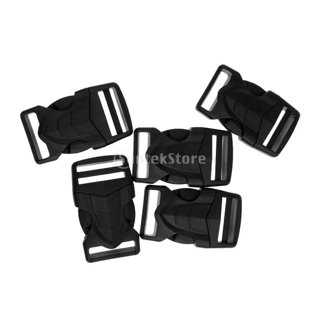 5pcs 25mm quick side release buckles loop clips bags belt connecting